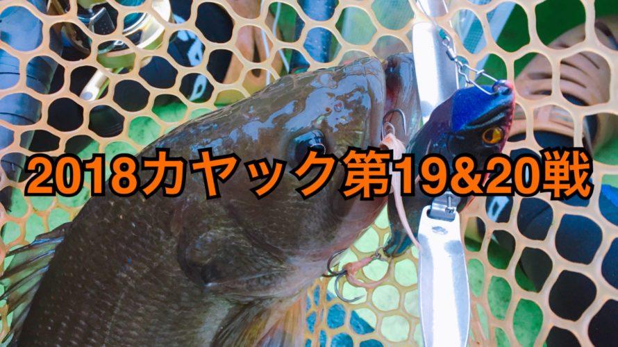 【釣行】カヤック第19&20戦-ただひたすらにバズ&羽根モノ-